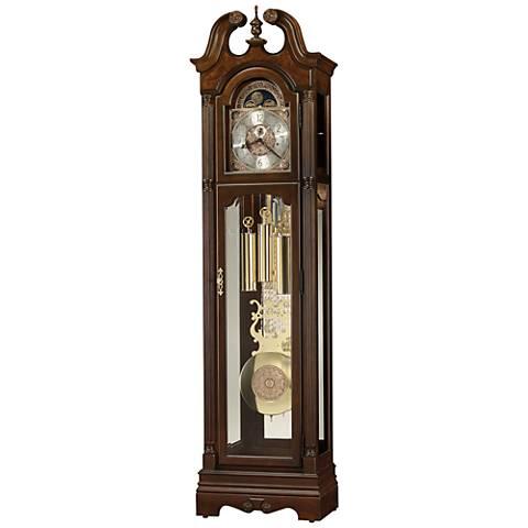 """Howard Miller Welston Cherry Bordeaux 84 1/4""""H Floor Clock"""