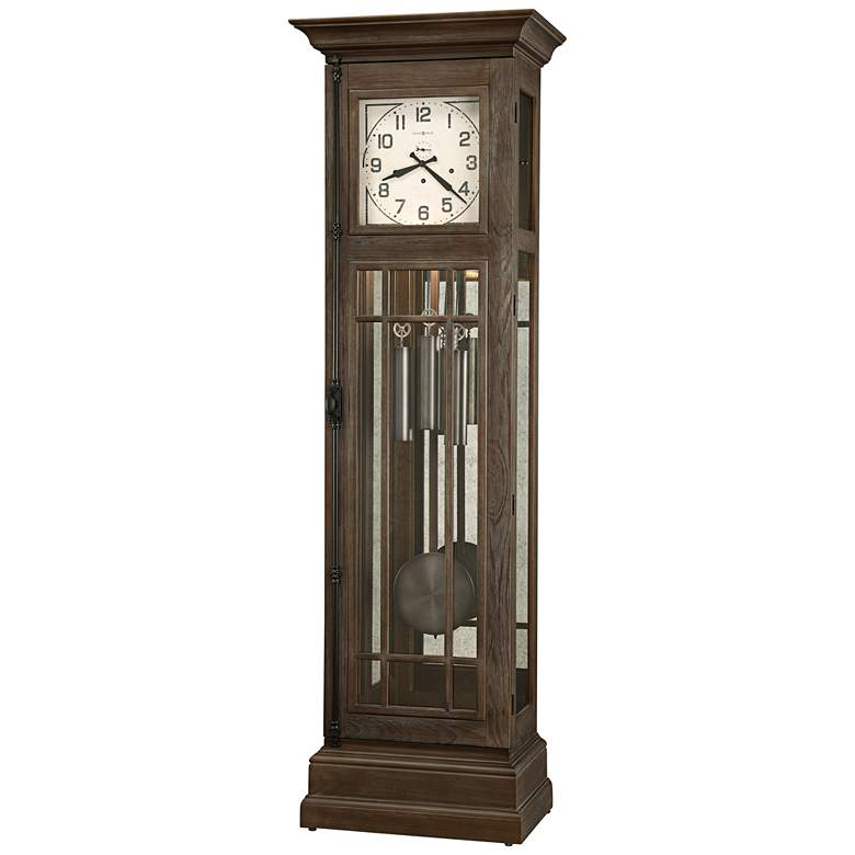 "Howard Miller Davidson Aged Auburn 81"" High Floor Clock"