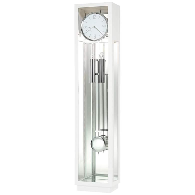 """Howard Miller Whitelock 76"""" High Gloss White Floor Clock"""
