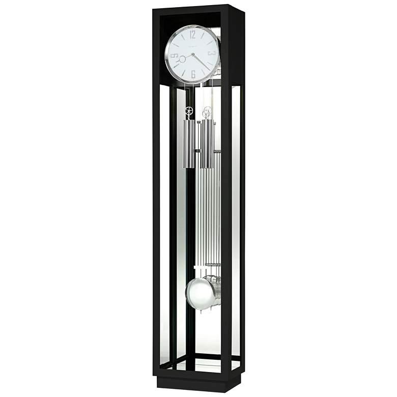 """Howard Miller Whitelock II Gloss Black 76"""" High Floor Clock"""