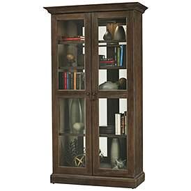 Howard Miller Lennon Aged Umber 2 Door Display Cabinet