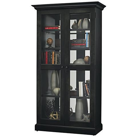 Howard Miller Lennon II Aged Black 2-Door Display Cabinet