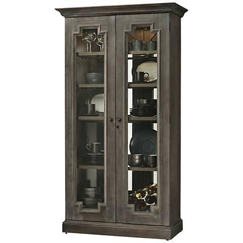 Howard Miller Chasman Aged Auburn 2-Door Display Cabinet