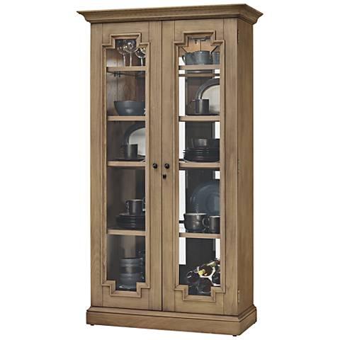 Howard Miller Chasman II Aged Natural 2-Door Display Cabinet