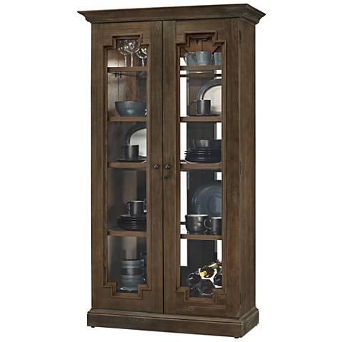 Howard Miller Chasman III Aged Umber 2-Door Display Cabinet