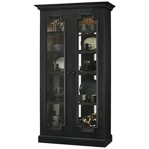 Howard Miller Chasman IV Aged Black 2-Door Display Cabinet