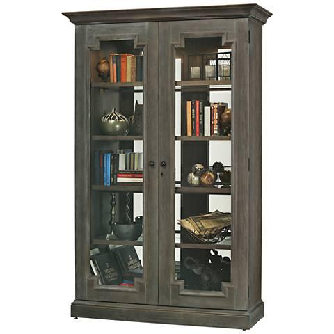 Howard Miller Desmond Aged Auburn 2-Door Display Cabinet