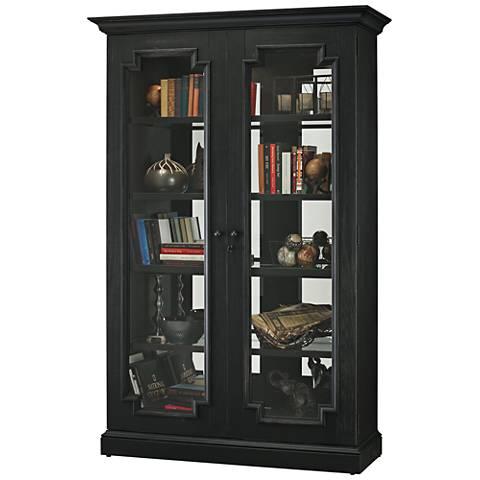 Howard Miller Desmond IV Aged Black 2-Door Display Cabinet