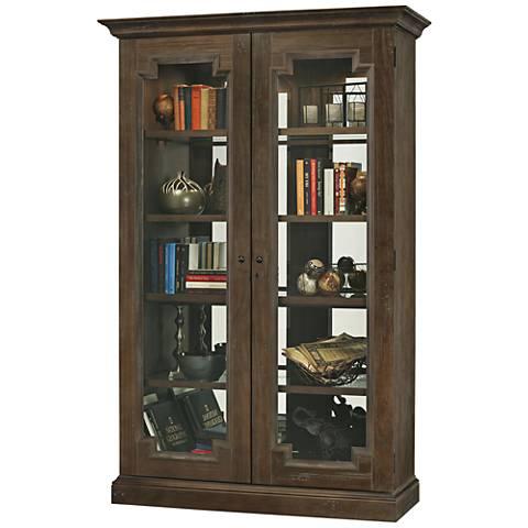 Howard Miller Desmond III Aged Umber 2-Door Display Cabinet