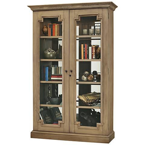 Howard Miller Desmond II Aged Natural 2-Door Display Cabinet