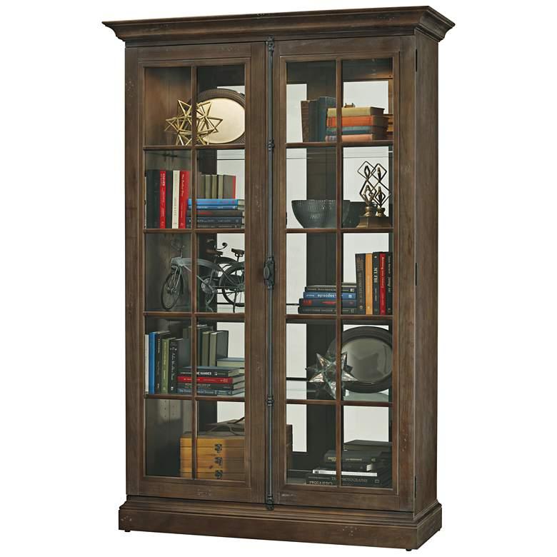 Howard Miller Clawson Aged Umber 2-Door Wood Display