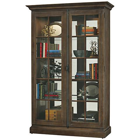 Howard Miller Clawson Aged Umber 2-Door Wood Display Cabinet