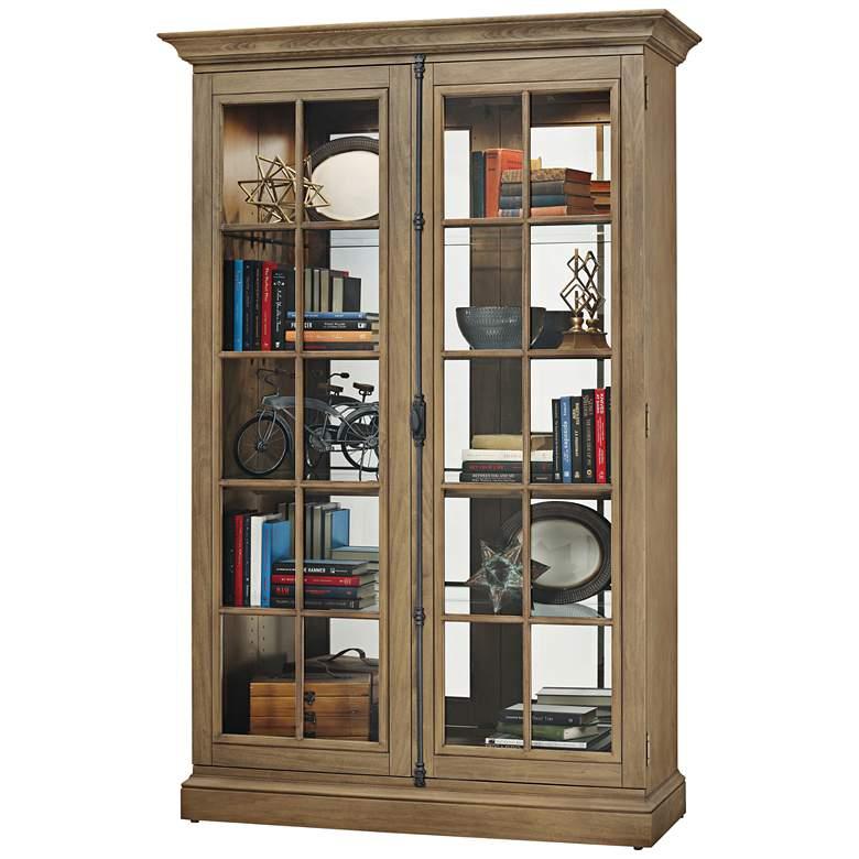 Howard Miller Clawson II Aged Natural 2-Door Display Cabinet