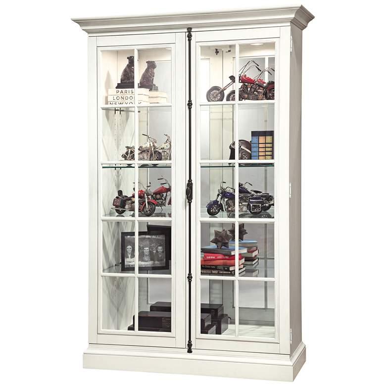 Howard Miller Clawson V Aged Linen 2-Door Display Cabinet