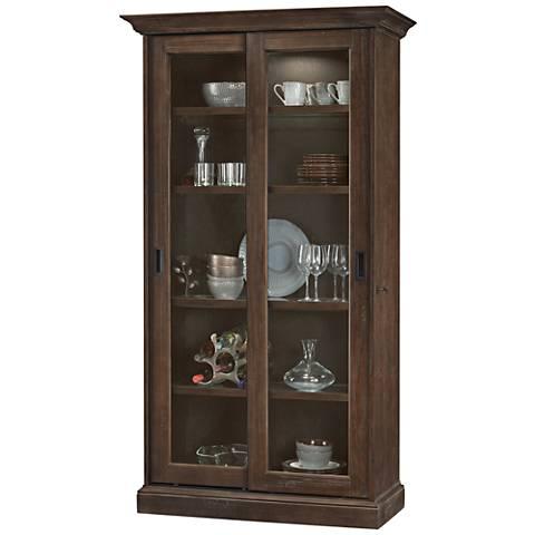 Howard Miller Meisha Aged Umber 2-Door Display Cabinet
