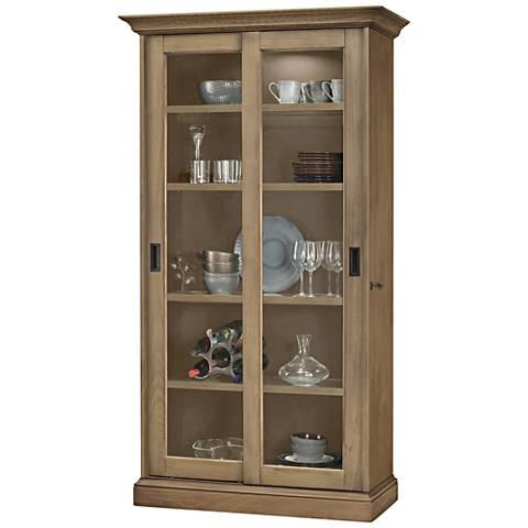 Howard Miller Meisha II Aged Natural 2-Door Display Cabinet