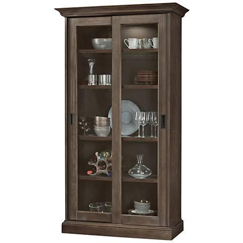 Howard Miller Meisha III Aged Auburn 2-Door Display Cabinet