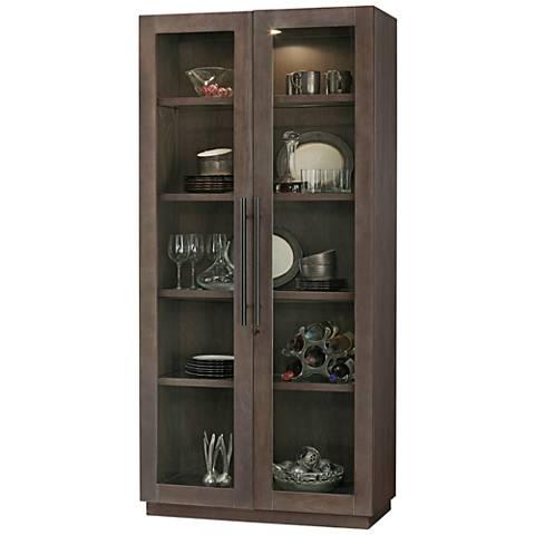 Howard Miller Morrissey Aged Java 2-Door Display Cabinet