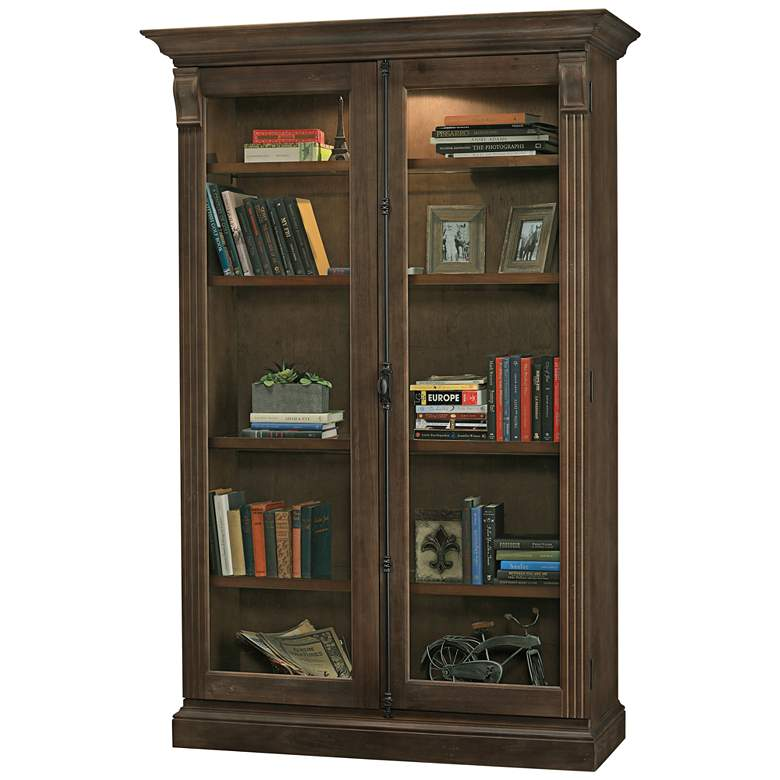 Howard Miller Chadsford Aged Umber 2-Door Display Cabinet