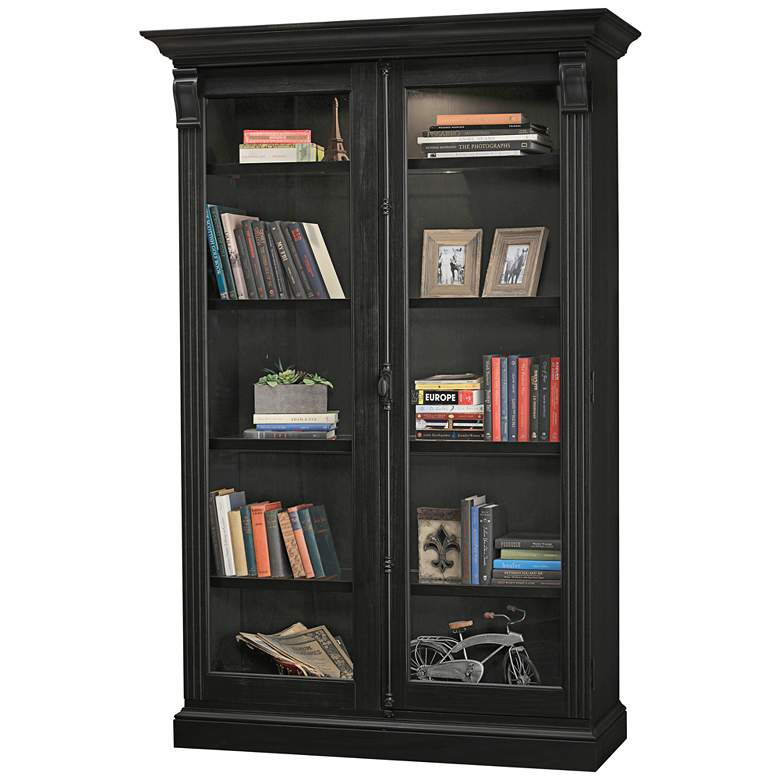 Howard Miller Chadsford IV Aged Black 2-Door Display