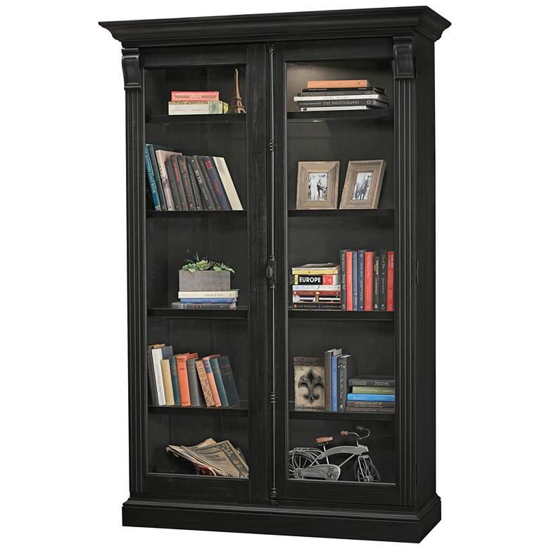 Howard Miller Chadsford IV Aged Black 2-Door Display Cabinet