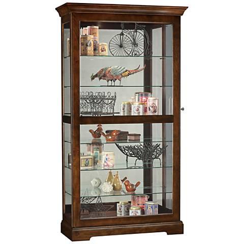 Howard Miller Tyler Cherry Bordeaux 1-Door Curio Cabinet