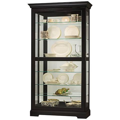 Howard Miller Tyler II Black Satin 1-Door Curio Cabinet
