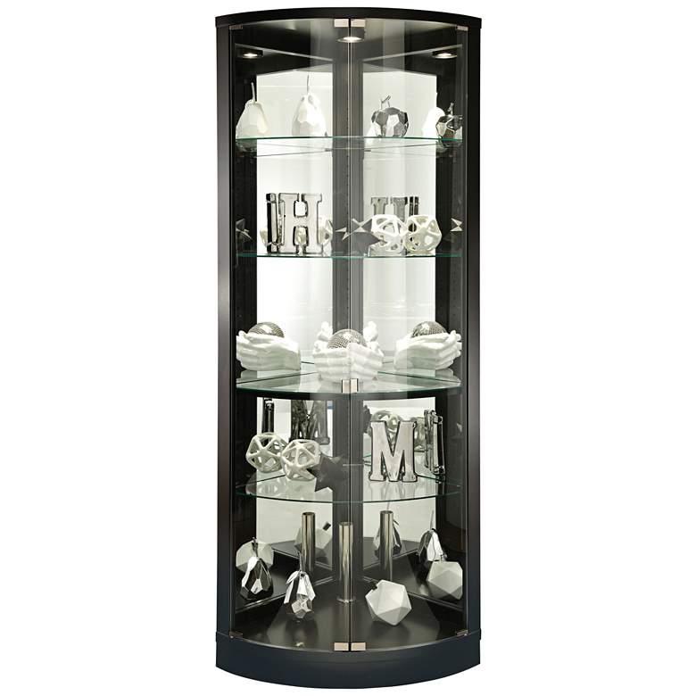 Howard Miller Jaime Black Satin 2-Door Curio Cabinet