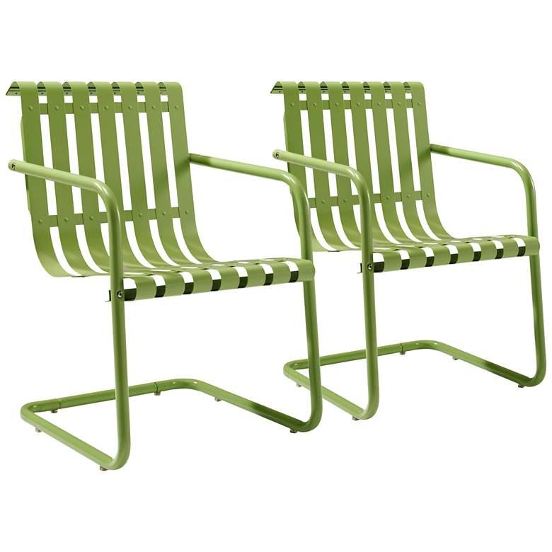 Gracie Green Steel Indoor-Outdoor Armchair Set of 2
