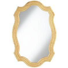 "Alain Gold Matted Distressed 30"" x 45"" Wall Mirror"