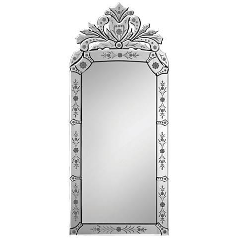 "Venetian Glass 19"" x 43"" Wall Mirror"