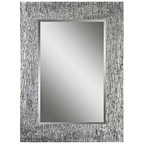 """Santa Fe Silver Leaf 36"""" x 49"""" Rectangular Wall Mirror"""