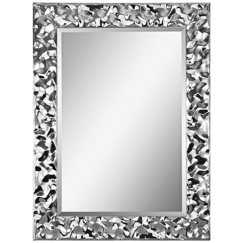 "Couture Chrome 30"" x 40"" Rectangular Wall Mirror - #24C34 ..."