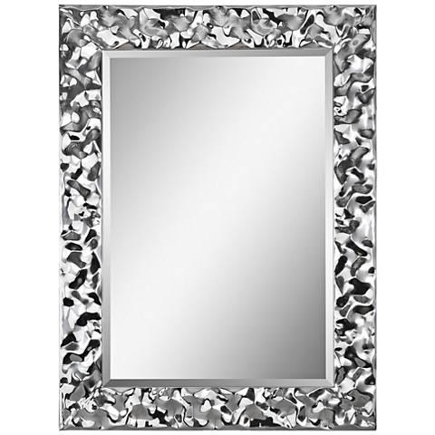 "Couture Chrome 30"" x 40"" Rectangular Wall Mirror"