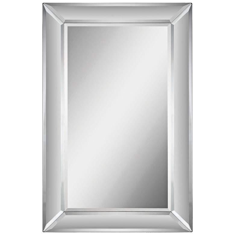 "Aubrey Glass 22"" x 34"" Rectangular Wall Mirror"