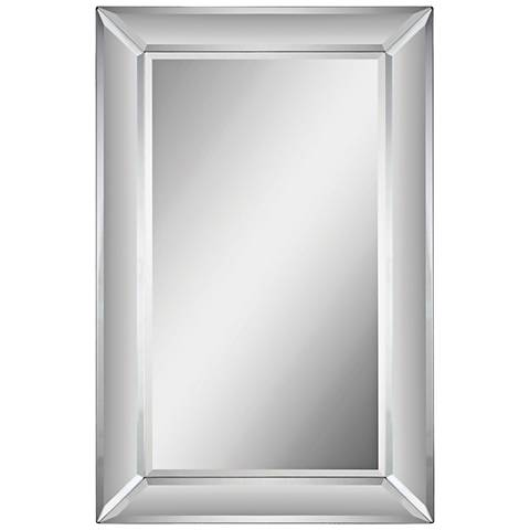 "Aubrey Glass 22"" x 34"" Rectangular Wall Mirror"