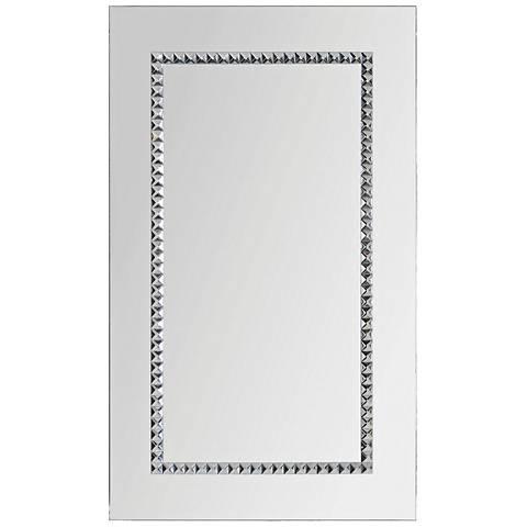 "Embedded Jewels Chrome 24"" x 40"" Wall Mirror"