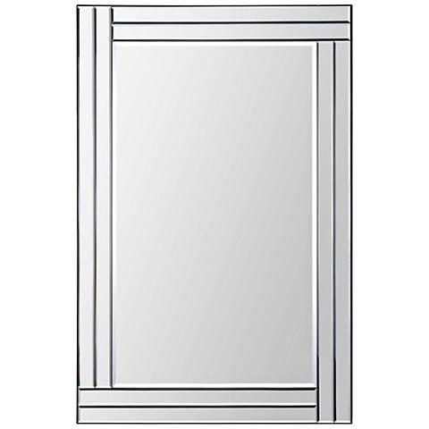 "Baton Rouge Glass 24"" x 35"" Rectangular Wall Mirror"