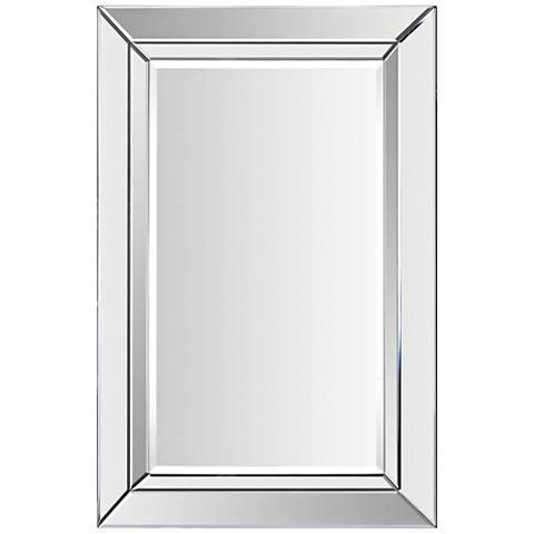 """Aura Glass 24"""" x 35"""" Rectangular Wall Mirror"""