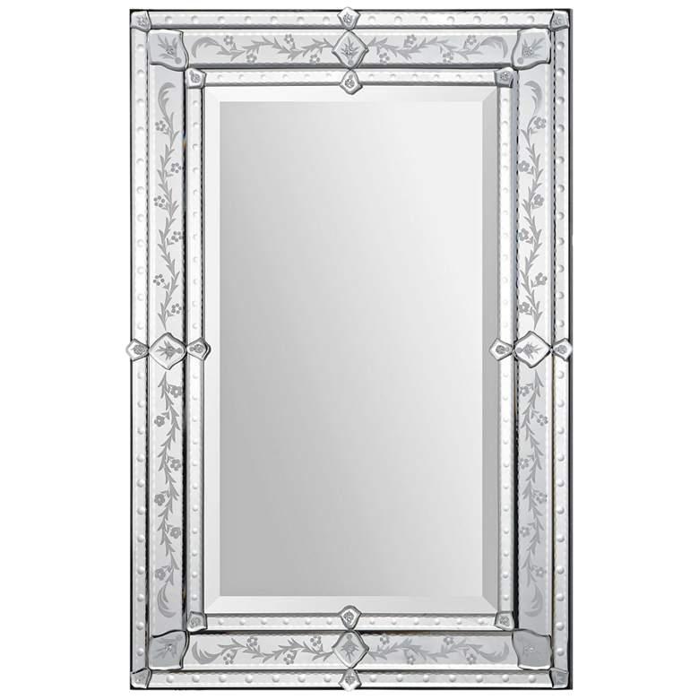 "Vincenzo Glass 24"" x 36"" Rectangular Wall Mirror"