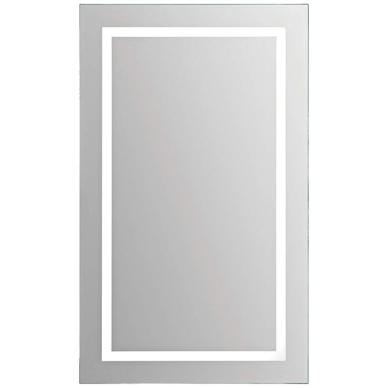 "Adele Clear Glass 24"" x 40"" Rectangular LED Wall Mirror"