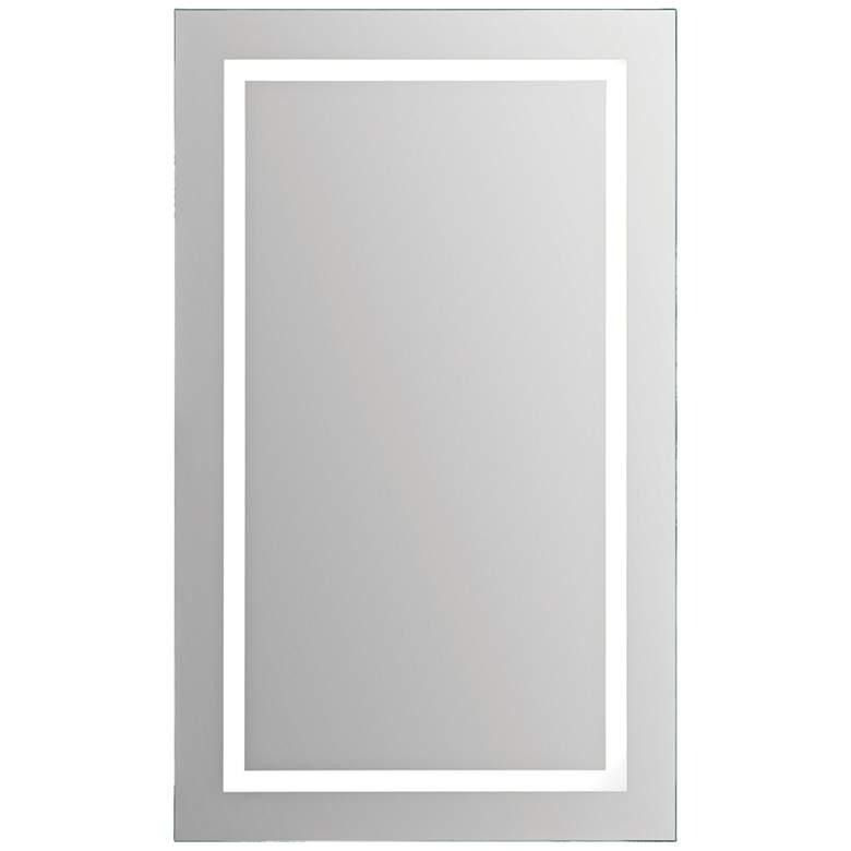 "Adele Clear Glass 24"" x 40"" Rectangular LED Wall Mirror"