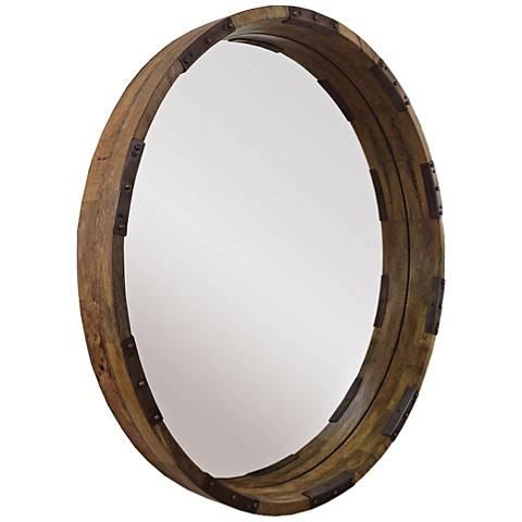 """Industria Mango 30"""" Round Wall Mirror"""