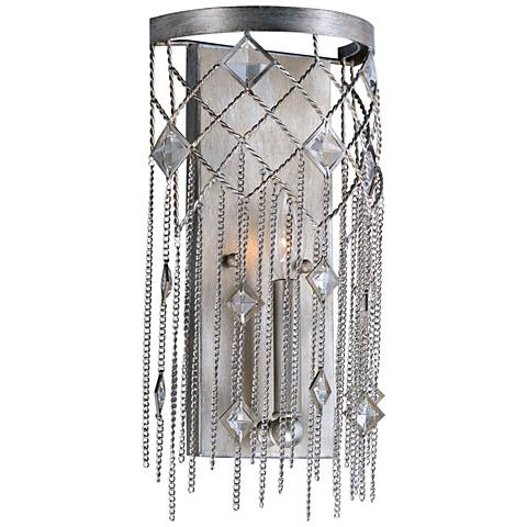 "Maxim Alessandra 15 3/4"" High Silver Mist Wall Sconce"