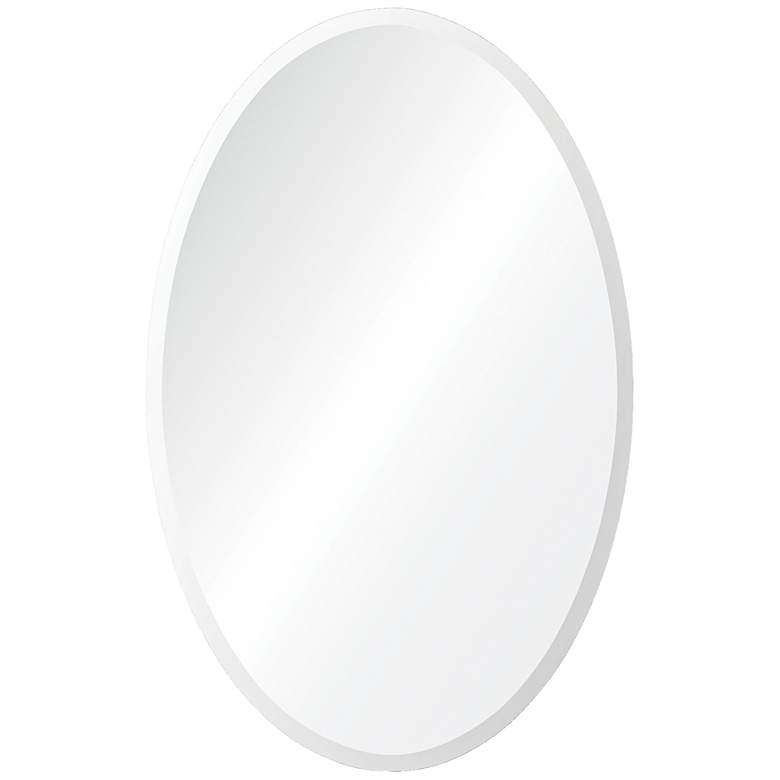 "Frances 18"" x 28"" Oval Beveled Wall Mirror"