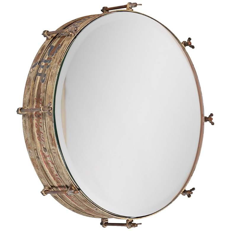 "Wosley Weathered 19"" Round Wall Mirror"