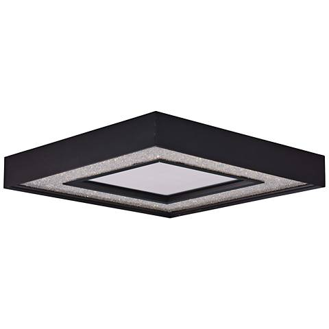 "Maxim Splendor 15 1/2"" Wide Bronze Square LED Ceiling Light"
