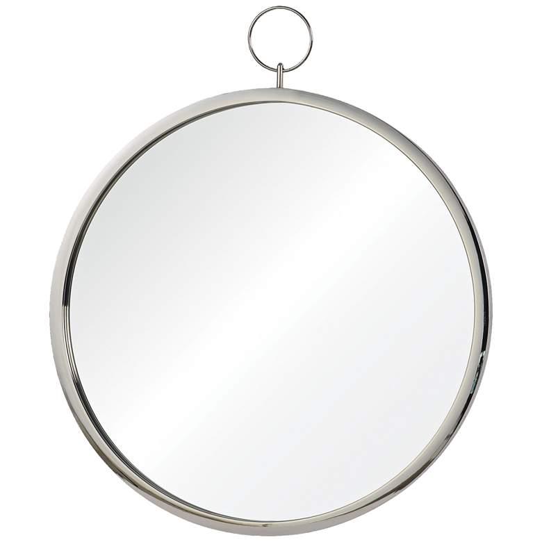 """Porto Chrome 23 1/2"""" x 30"""" Round Wall Mirror"""