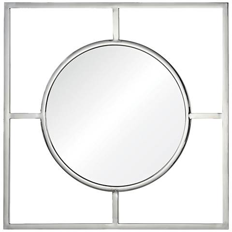 "Severn Chrome 30 1/2"" Square Wall Mirror"