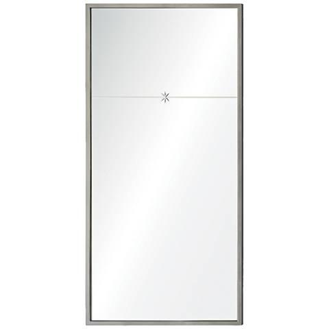 """Fellini Silver Leaf 22"""" x 44"""" Rectangular Wall Mirror"""